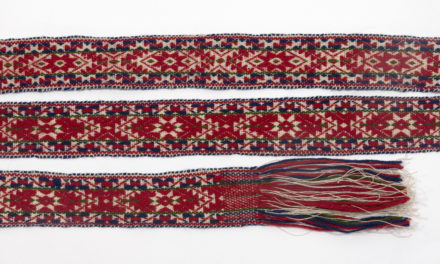 Pick-up belt weaving